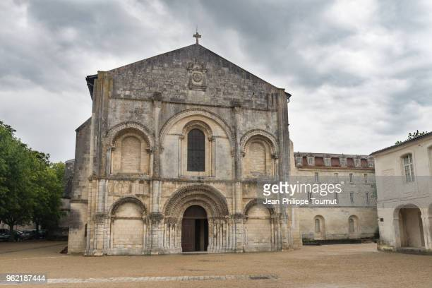 Facade of the Abbatial Church of the Abbey of Sainte-Marie-des-Dames in Saintes, France