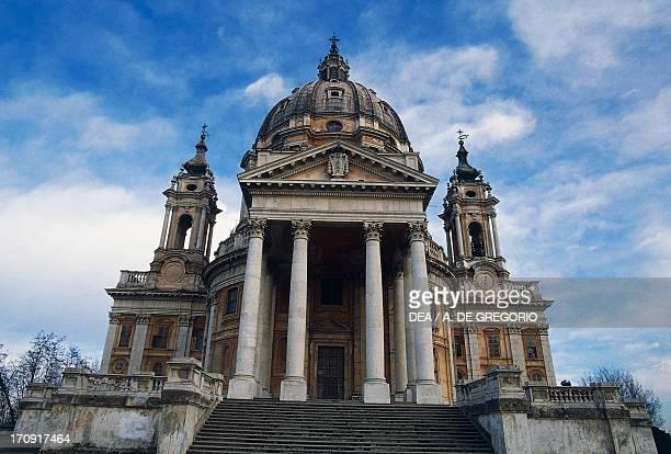 Facade of the Basilica of Superga by Filippo Juvarra Turin Piedmont Italy