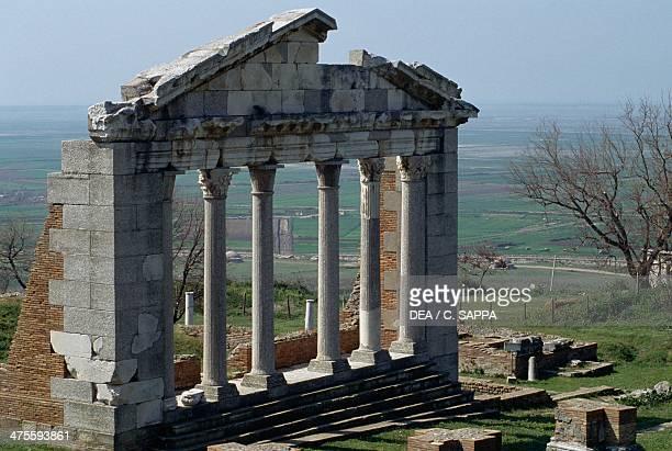 Facade of the Bouleuterion at Apollonia Albania Greek civilisation