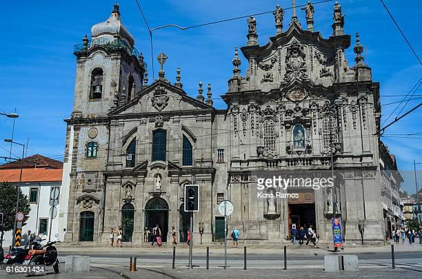 facade of the Carmelite church in Porto Portugal