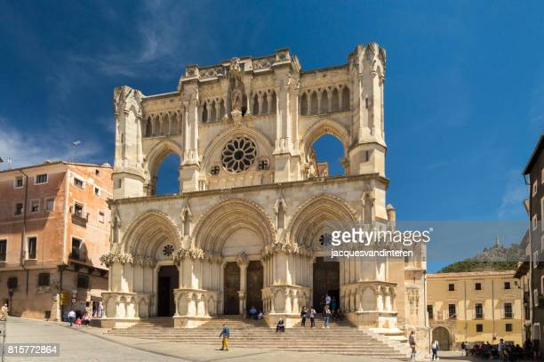 Facade of the cathedral in Cuenca, Spain.