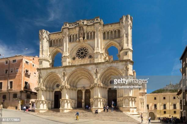 Fachada de la Catedral de Cuenca, España.