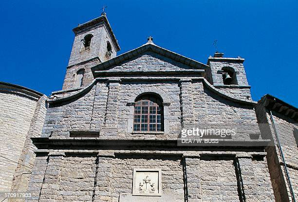 Facade of the Cathedral of St Peter Tempio Pausania Sardinia Italy