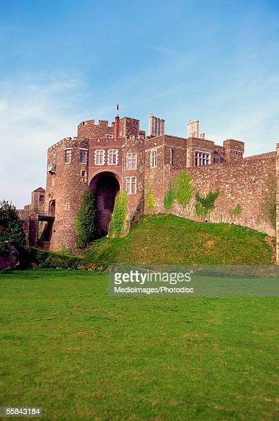 facade of the dover castle, kent, england - dover england stock pictures, royalty-free photos & images