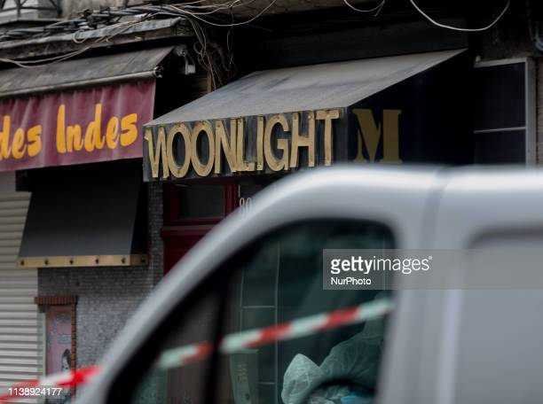 Facade of the establishment where the drama took place. A 23-year-old man was shot dead on the night of April 22-23, 2019 in a shisha bar in the Rue...