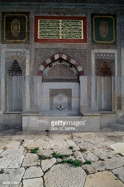 Facade of the Fountain of Ahmet III Topkapi palace historic centre of Istanbul Turkey