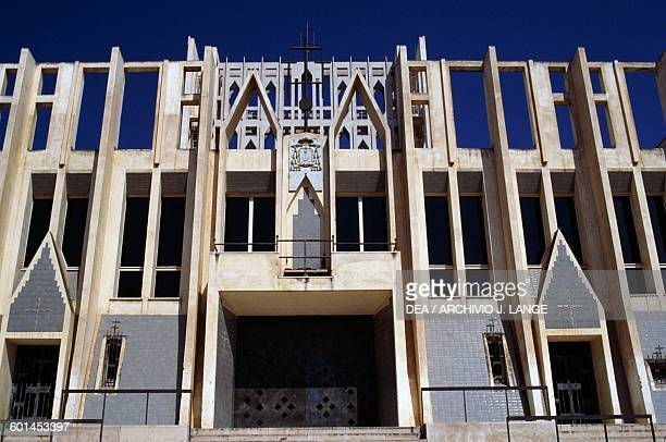 Facade of the Great Mother of God Co-cathedral architect Gio Ponti , detail, Taranto, Apulia. Italy, 20th century.