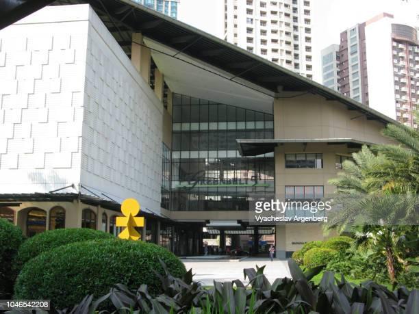 facade of the greenbelt mall shopping center (ayala center), makati, manila, philippines - argenberg bildbanksfoton och bilder