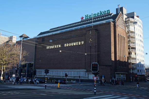 Facade of the Heineken Experience, Brouwerij, Amsterdam, the Netherlands