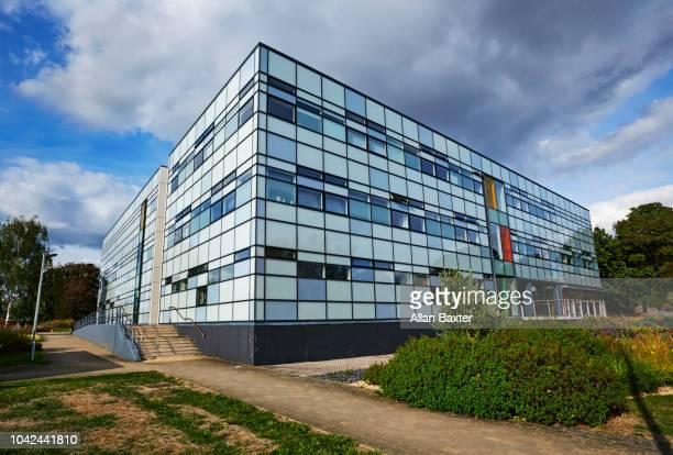Facade of the 'Jennie Lee Building' open university building