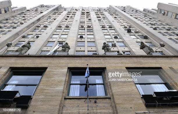 Facade of the Medicine Faculty headquarters of the Institute of Biomedical Research in Retroviruses and AIDS of the CONICET and the Buenos Aires...