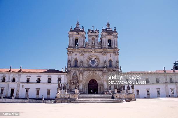 Facade of the monastery of Alcobaca Centro Portugal 12th century
