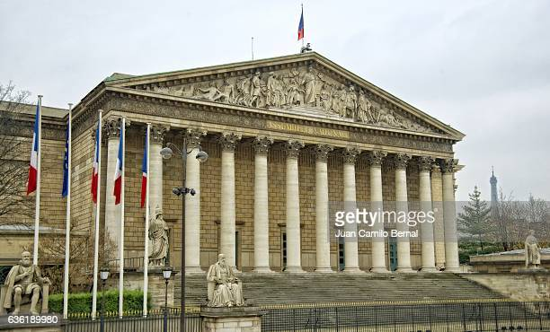 Facade of the National Assembly building, Paris