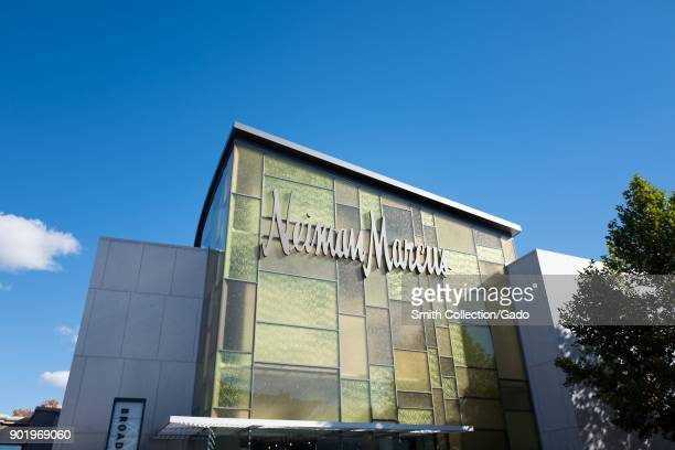 Facade of the Neiman Marcus department store on a sunny day in downtown Walnut Creek California November 17 2017