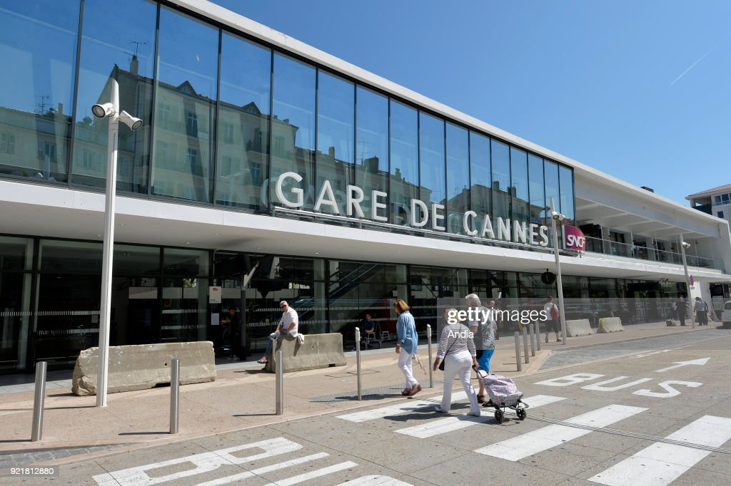 Facade of the new railway station in Cannes (south-eastern France).