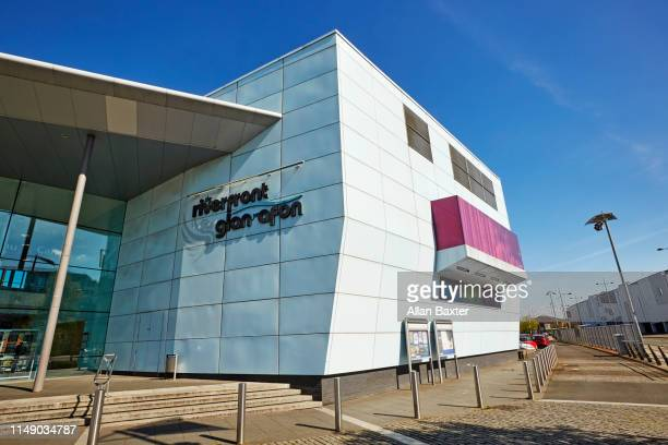 facade of the new riverfront arts centre in newport - newport wales photos stock pictures, royalty-free photos & images
