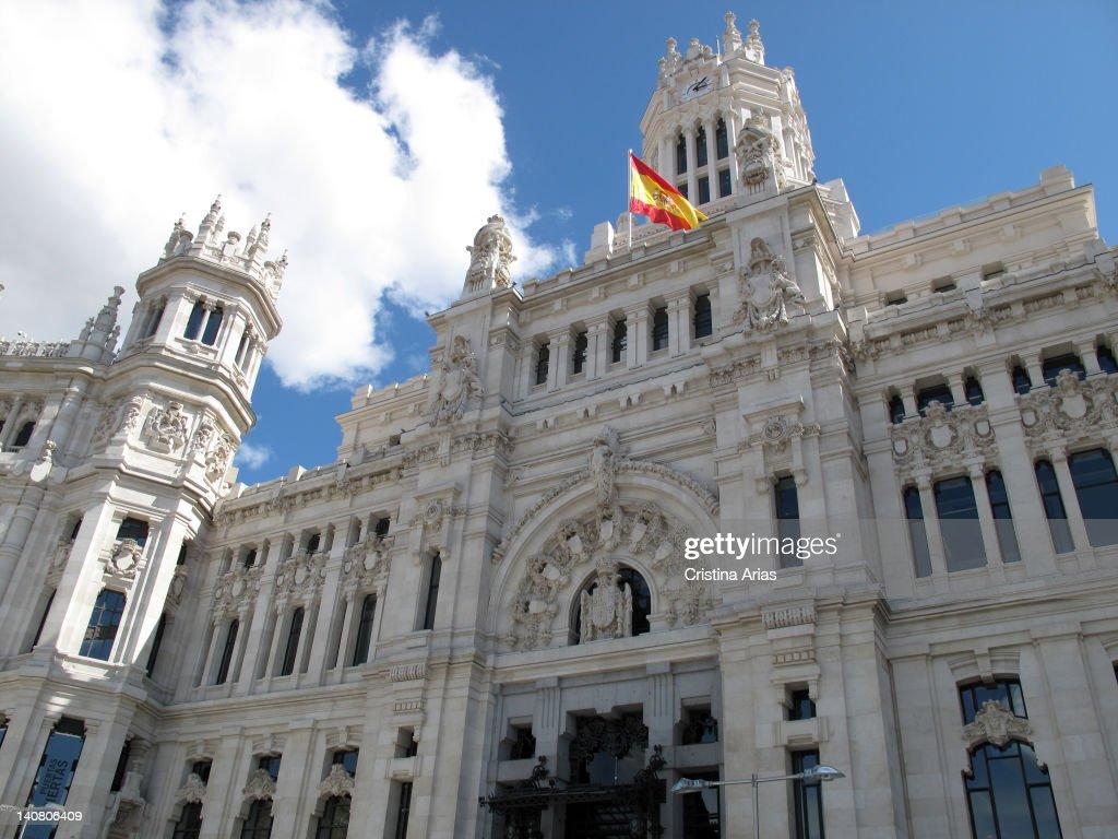 Facade Of The Palacio De Cibeles Madrid Town Hall Designed