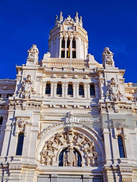 Facade of the 'Palacio de Comunicaciones in Madrid