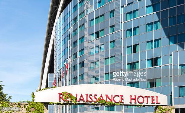 Facade of the Renaissance Hotel in Toronto Renaissance Hotel is a luxury and modern hotel built into the Rogers Centre baseball stadium and is...