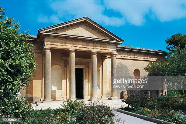 Facade of the Roman villa now site of the Archaeological museum Rabat Gozo island Malta
