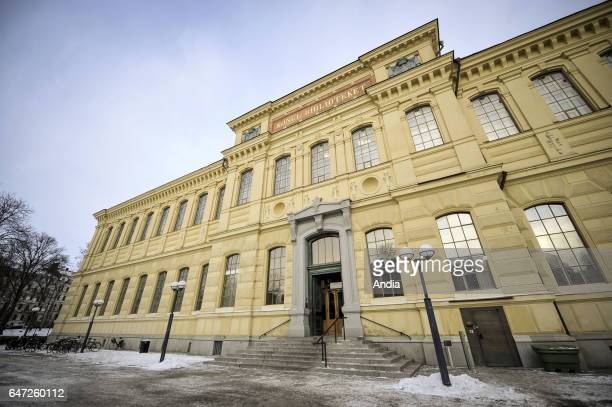 Facade of the Royal Library of Sweden in Stockholm Editorial use only