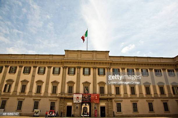 Facade of the Royal Palace of Milan Milan Lombardy Italy