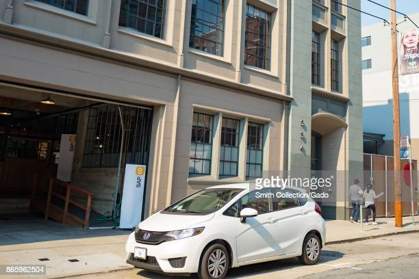 Facade of the SAP IO branch in the South of Market neighborhood of San Francisco California October 13 2017 SoMa is known for having one of the...