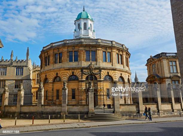 Facade of the Sheldonian theatre, designed by Christopher Wren