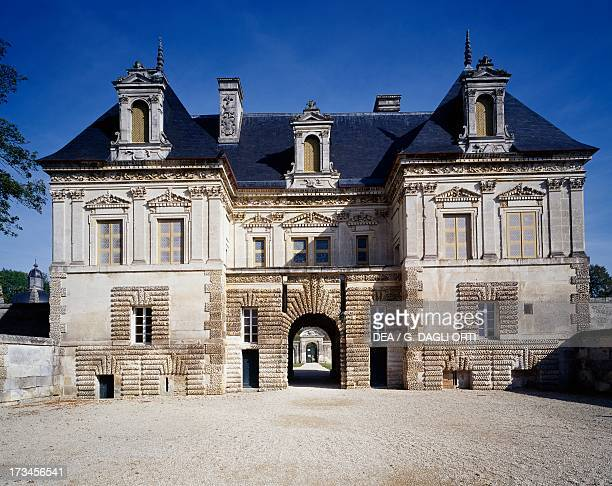 Facade of the small castle in Louis XIII style Tanlay Castle Burgundy France