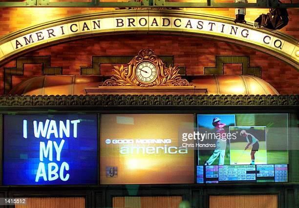 A facade of the studio of Good Morning America owned by America Broadcasting Company May 2 2000 in New York City Time Warner Cable cut transmission...