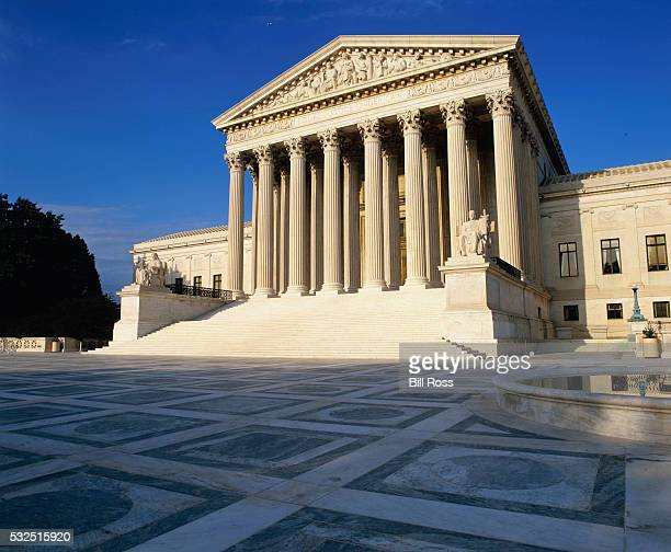 facade of the supreme court - us supreme court building stock pictures, royalty-free photos & images