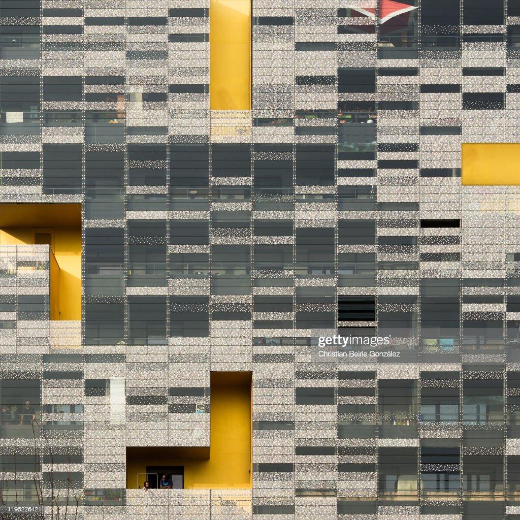 Facade of the Terrase de l'Université, Nanterre / Paris constructed 2012 by X-TU : Stock-Foto