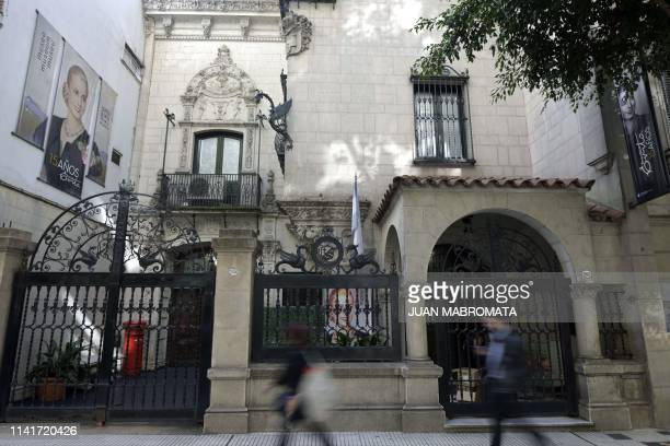 Facade of the the Evita Museum in Buenos Aires on May 6 2019 May 7th marks the 100th anniversary of Eva Duarte de Peron's birth who was called the...