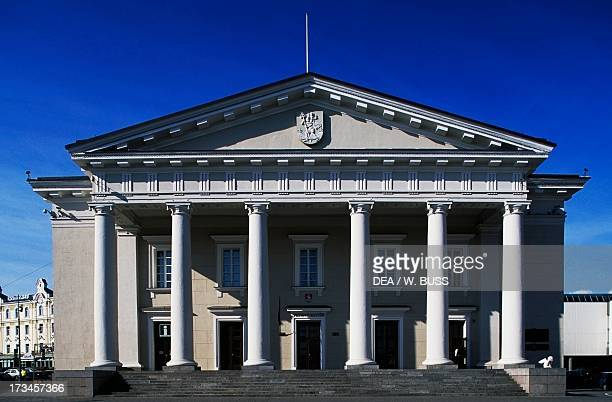 Facade of the Town Hall of Vilnius by Laurynas StuokaGucevicius Vilnius Lithuania