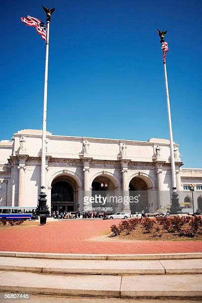 facade of the union station, washington dc, usa - ワシントンdc ユニオン駅 ストックフォトと画像