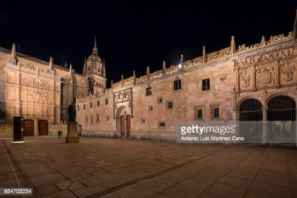 Facade of the university of Salamanca dating back to the XIIIth century.