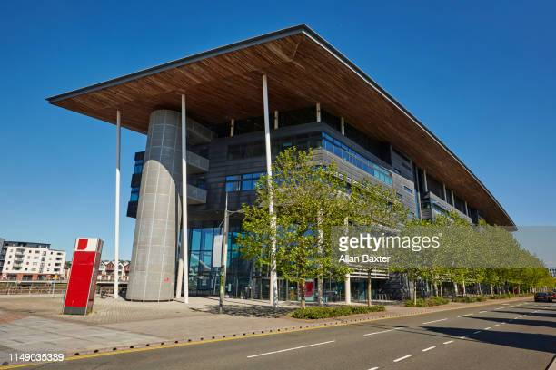 facade of the 'university of south wales' newport campus - newport wales photos stock pictures, royalty-free photos & images