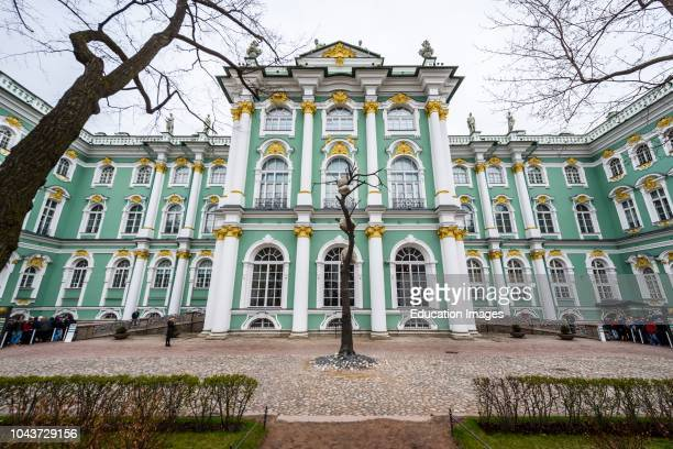 Facade of the Winter Palace in Saint Petersburg, Russia Hermitage museum.