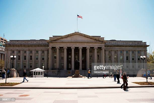Facade of US Treasury Department Building, Washington DC, USA