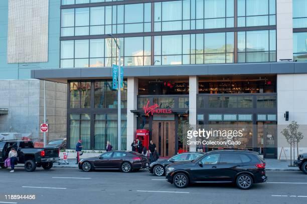 Facade of Virgin hotel in downtown San Francisco California November 8 2019