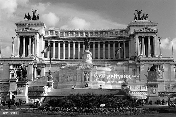 facade of vittorio emanuele ii monument - hedonism ii stock photos and pictures