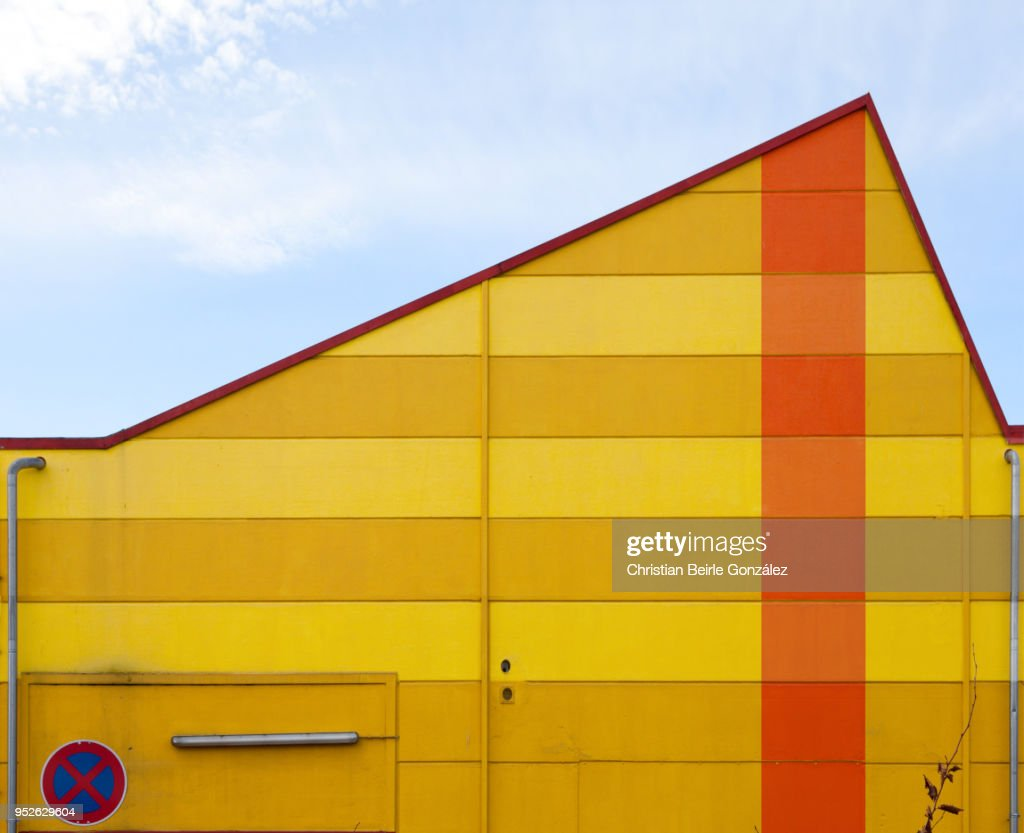 Facade of Warehouse in Munich : Stock-Foto