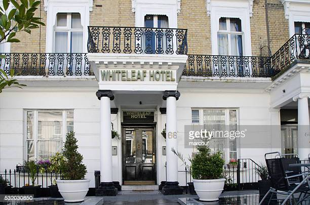 Facade of Whiteleaf Hotel in London