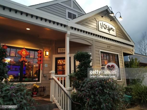 Facade of Yos on Hartz a popular Chinese cuisine restaurant in Danville California February 2 2019