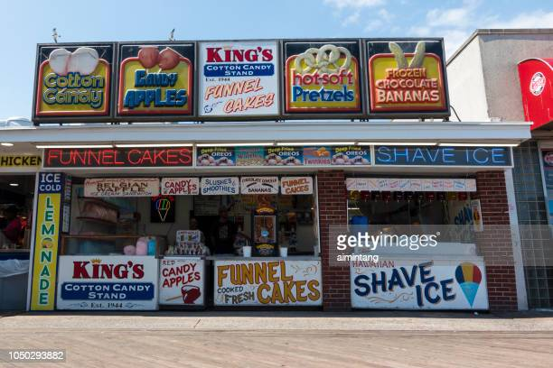 facade on boardwalk in ocean city - ocean city maryland stock pictures, royalty-free photos & images