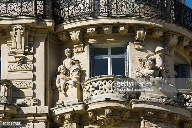 Facade Place De La Comedie, Montpellier, France