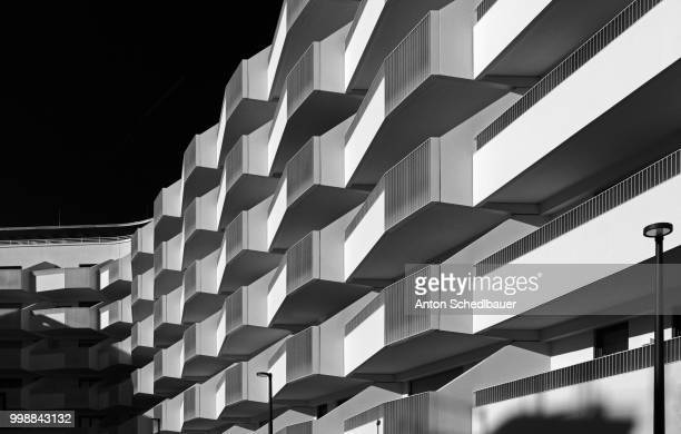 facade study l - anton schedlbauer stock pictures, royalty-free photos & images