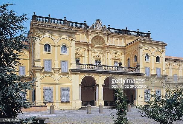 Facade, Villa Falconieri known as La Rufina , Frascati, Lazio, Italy.