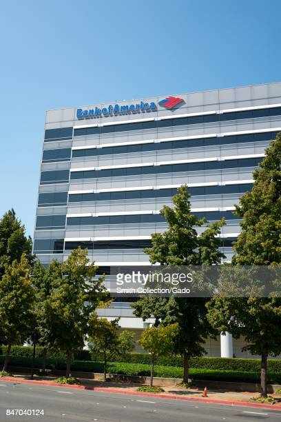 Facade with logo and signage at the Bank of America Technology Center in Concord California September 8 2017
