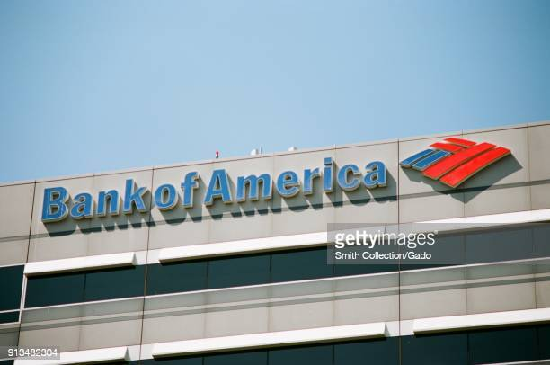 Facade with logo at Bank of America building in downtown Concord California September 8 2017